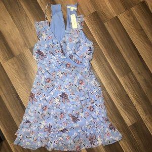 NWT Francescas Blue Oxford A Line Dress